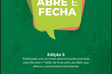 Governo de Goiás divulga nova cartilha e reforça protocolos de reabertura