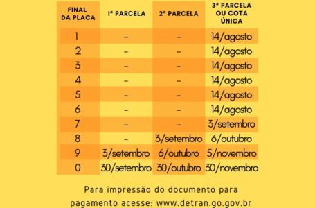 Governo de Goiás estende prazo para pagamento de IPVA e Licenciamento