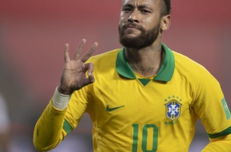 Neymar marca três vezes e ajuda Brasil a vencer Peru nas eliminatórias
