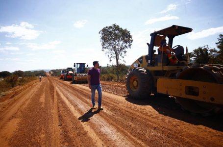 Governo de Goiás retoma obras da GO-174, entre Diorama e Montes Claros de Goiás, após mais de duas décadas de espera